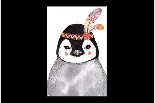 Картина  Пингвин-индеец