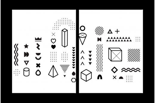 Модульная картина Символы